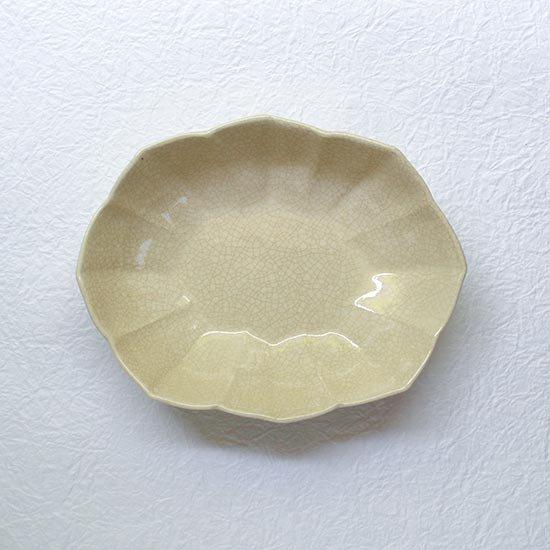 輪花楕円鉢 / 石黒剛一郎