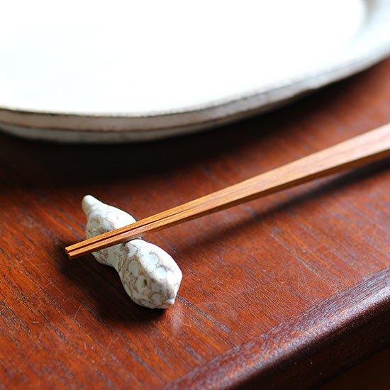 ピーナッツ箸置き / 遠藤素子