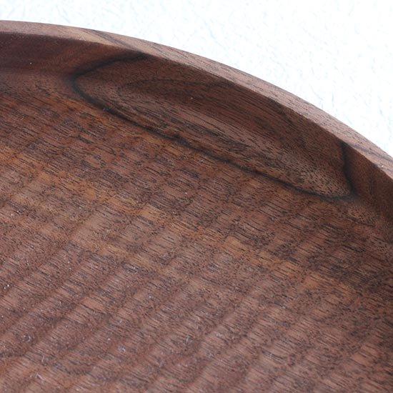 丸盆 ブラックウォールナット 30cm / 堀宏治