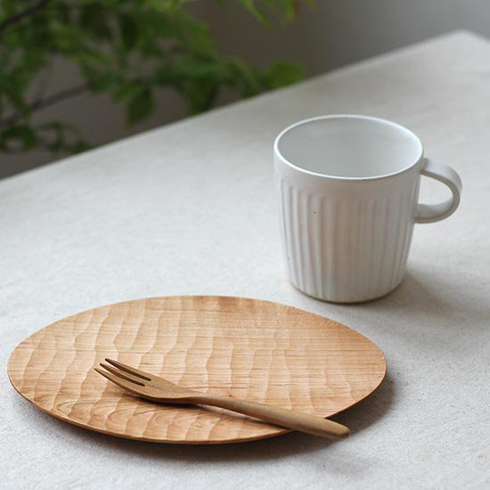 手彫りオーバル皿 M / 尾池豪