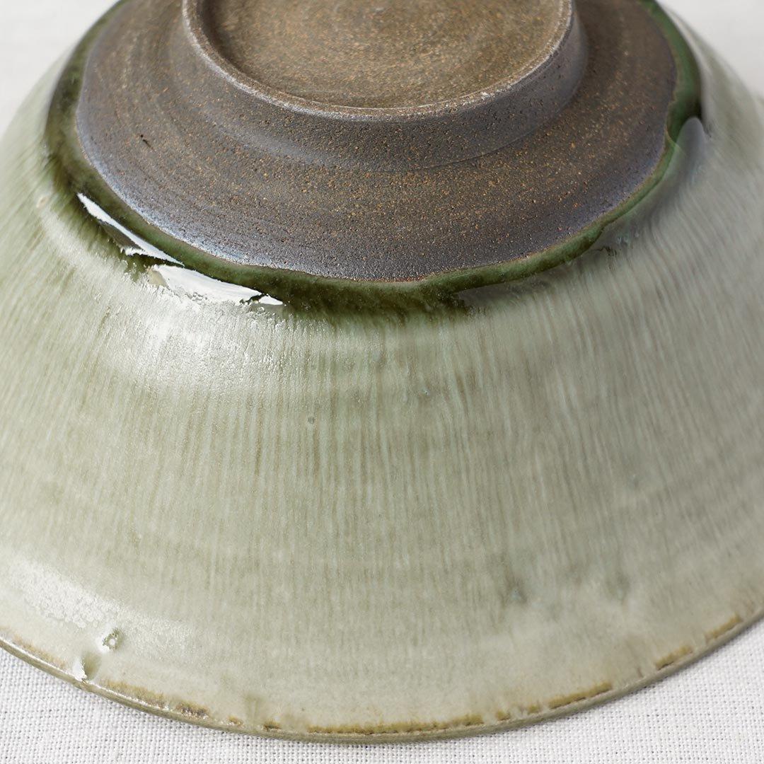 6寸楕円鉢 彩色灰釉 / 市野耕