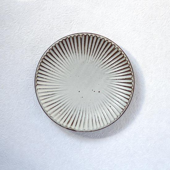 しのぎ皿5寸 / 粕谷修朗