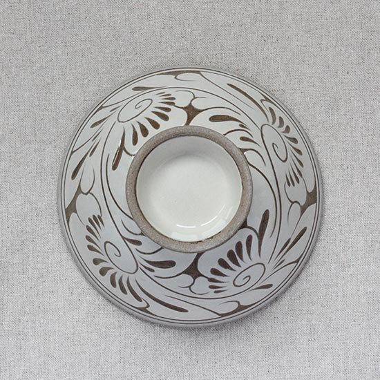 飯マカイ 唐草線彫 / 育陶園