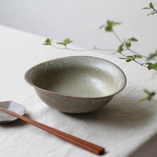 リム楕円鉢 中鉢 粉引 / 冨部咲喜子