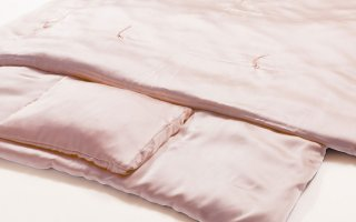 シルク100% 喘息・アレルギー対策寝具【floss】敷き布団(ピンク)