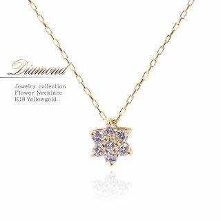 K18YG ダイヤモンド 0.1ct ネックレス 【当日出荷:平日13時までのご注文】
