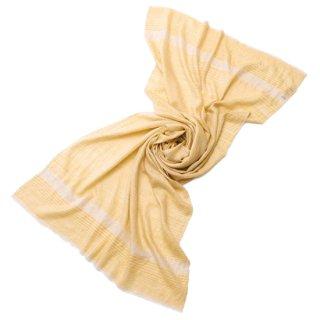 【30%OFF】S-PN0711_0191_YELLOW カシミヤ 手織りストール イエロー