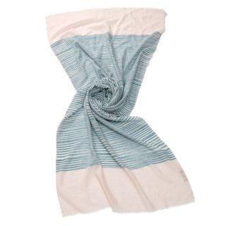 【30%OFF】S-PN0472_0061_GREEN 手紡ぎカシミヤ 手織りストール