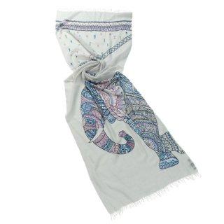 S-WTA4017_0002_LIGHT BLUE【ELEPHANT(エレファント)】ウール・シルク アリー手刺繍