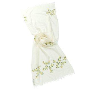 【MIMOSA SERIES(ミモザ)】薄手ウール・シルク アリー手刺繍