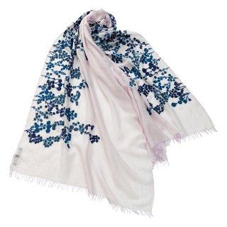 【SPRING BLOSSOM(スプリングブロッサム)】薄手ウール・シルク アリー手刺繍ストール