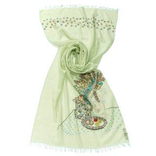S-WTA2028(2527)_0075_AQUA GREEN 【MY ROOM】薄手ウール・シルク マイ・ルーム アリー手刺繍