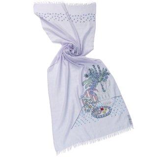 S-WTA2028(2527)_0140_LAVENDER【MY ROOM】薄手ウール・シルク マイ・ルーム アリー手刺繍