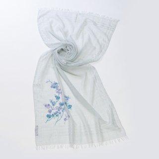 【NEW CEREMONY SERIES(ニューセレモニーシリーズ)】薄手ウール・シルク アリー手刺繍(ライトブルー)