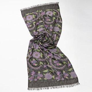 [EXTIC GARDEN](エキゾチックガーデン 麻素材 アリー手刺繍 (ダークグレー)