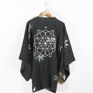 [HIYU] リメイク黒羽織 (幾何学)