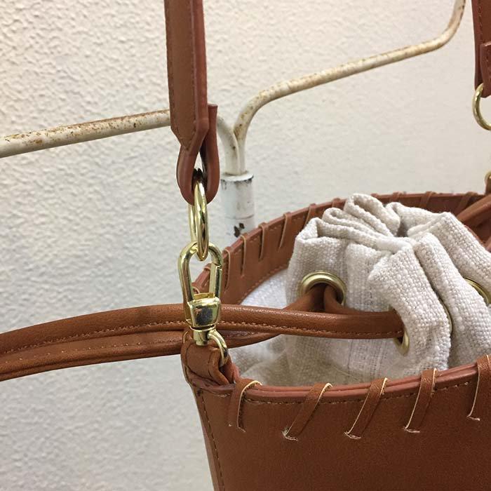 Legato Largo シリンダー型 2WAY巾着ショルダーバッグ サブイメージ