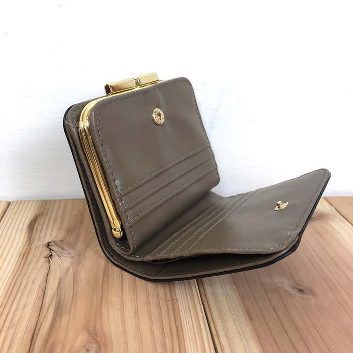 Legato Largo シャイニーフェイクレザーがま口二つ折り財布 サブイメージ