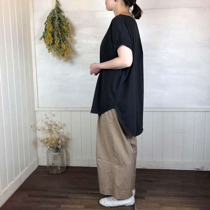 sabbatum ソフト天竺ラウンドヘムプルオーバー半袖チュニック(日本製) サブイメージ