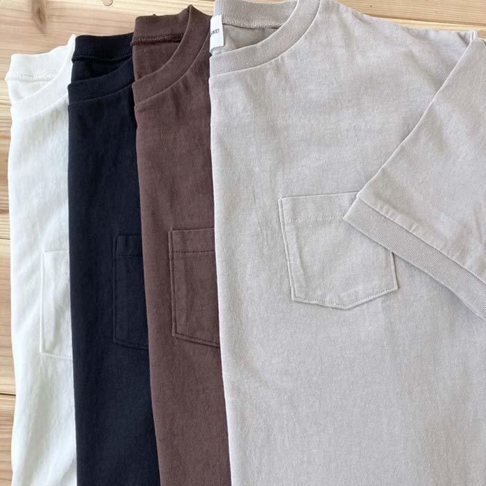 BLUE LAKE アメリカンドライ天竺無地5分袖Tシャツ 日本製 サブイメージ
