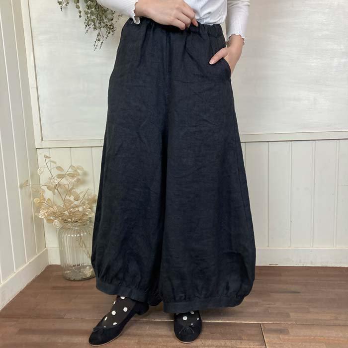 08Mab リネン裾バルーンワイドパンツ サブイメージ