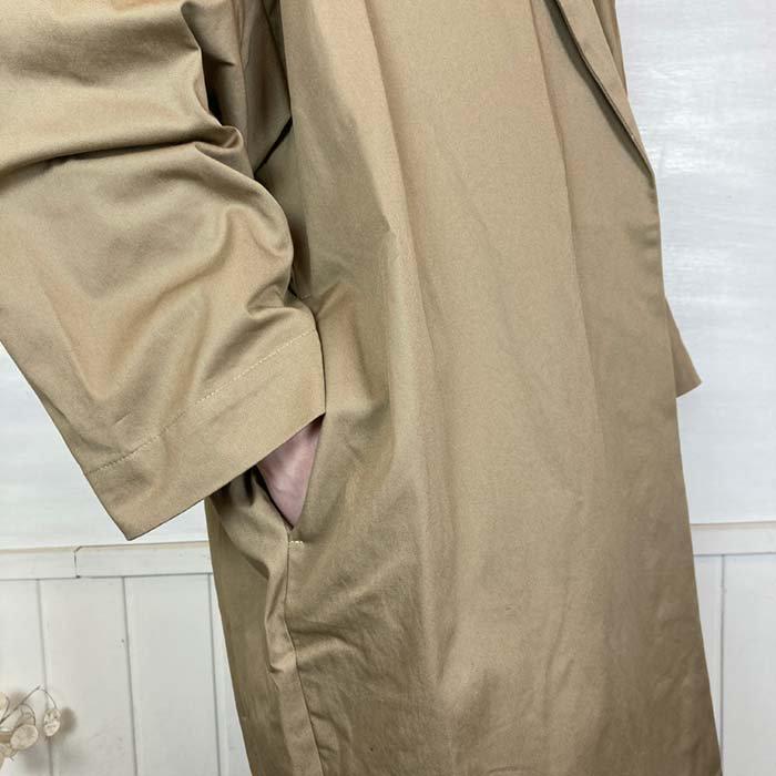 DIARIES ヴィンテージワッシャーツイルオープンカラーコート サブイメージ
