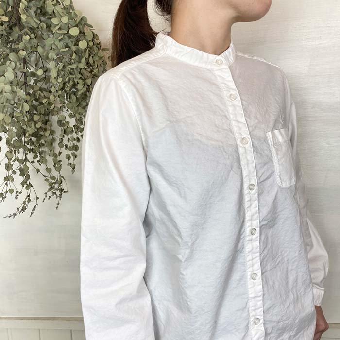 SUN VALLEY 日本製品染め長袖オックススタンドカラーシャツ サブイメージ
