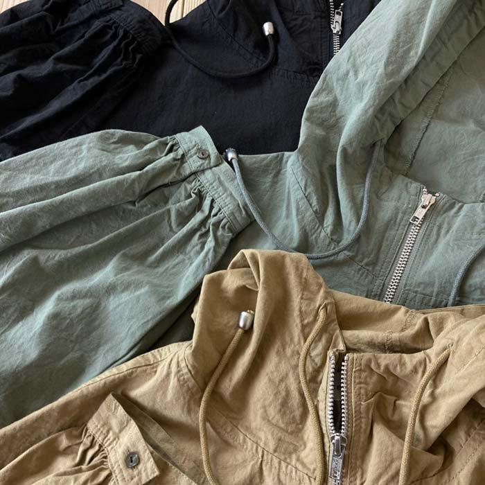 Sorte cuff ヴィンテージコットンダンプフード付きロングコート サブイメージ