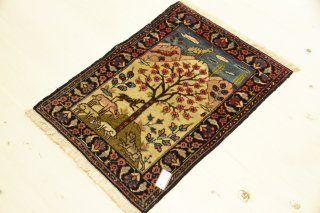 イラン テプリス アンティーク 絨毯
