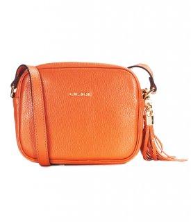 トルコ製 レザーバッグ オレンジ 牛革100% ショルダー ID7116