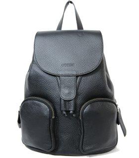 トルコ製 レザーバッグ ブラック 牛革100% リュック ID6571