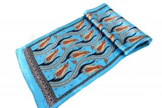 トルコ製 オリジナルシルクスカーフ シルク100% ーID S103−1