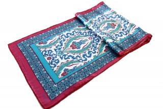 トルコ製 オリジナルシルクスカーフ シルク100% ーID S104−4