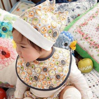 角帽子 野花柄