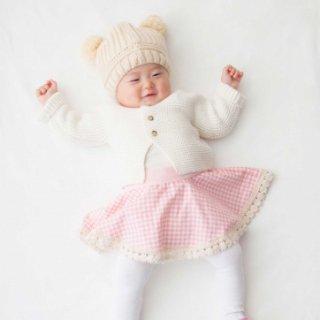 【Redline】Circle スカート(裾レース付) 千鳥柄ピンク