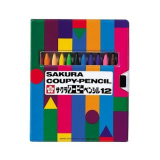 サクラクレパス クーピーペンシル12色ソフトケース FY12-R1