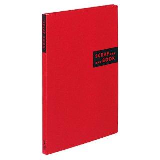 コクヨ スクラップブックS スパイラルとじ・固定式A4クラフト40枚 赤 ラ-410R