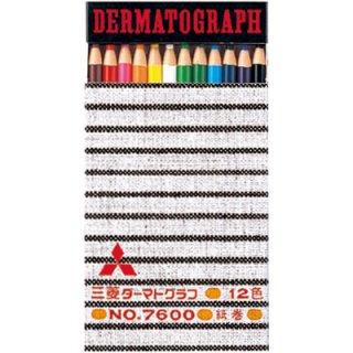 三菱鉛筆 油性ダーマト鉛筆 12色セット K760012C
