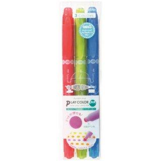 トンボ鉛筆 水性サインペン プレイカラードット 3色セットA GCE-311A