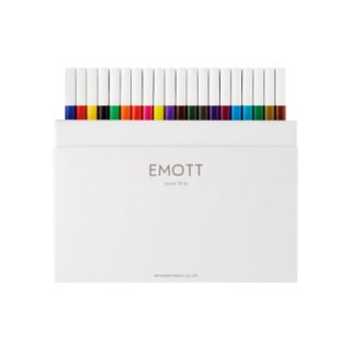 三菱鉛筆 EMOTT エモット 水性サインペン 40色セット PEMSY40C