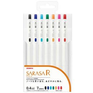 ゼブラ サラサR 0.4mm 7色セット JJS29-R1-7C