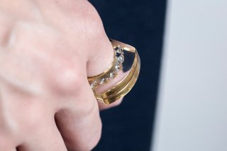 GLAM RING 2 - gold