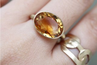 『LIMITED PIECE COLLECTION』Bycolor Citrine Ring