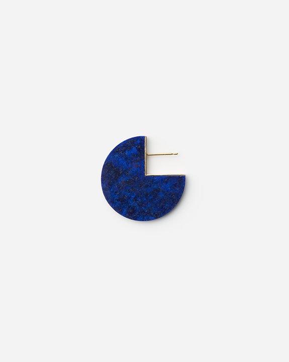 Slice Earring Lapis lazuli(single) | ラピスラズリ イヤリング