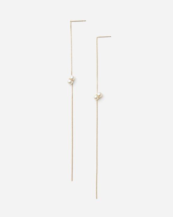 Twin Pearl American Earring