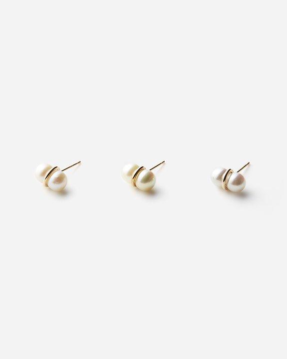 Twin Pearl Earring(single)size:M