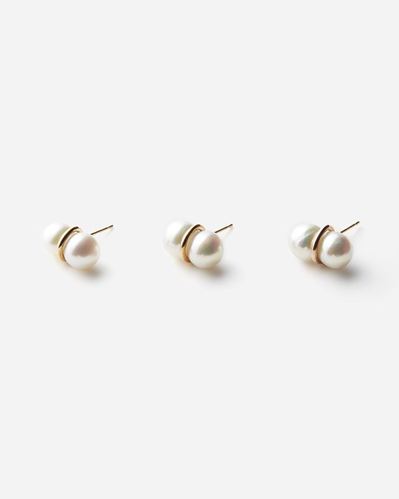 Twin Pearl Earring(single)size:L