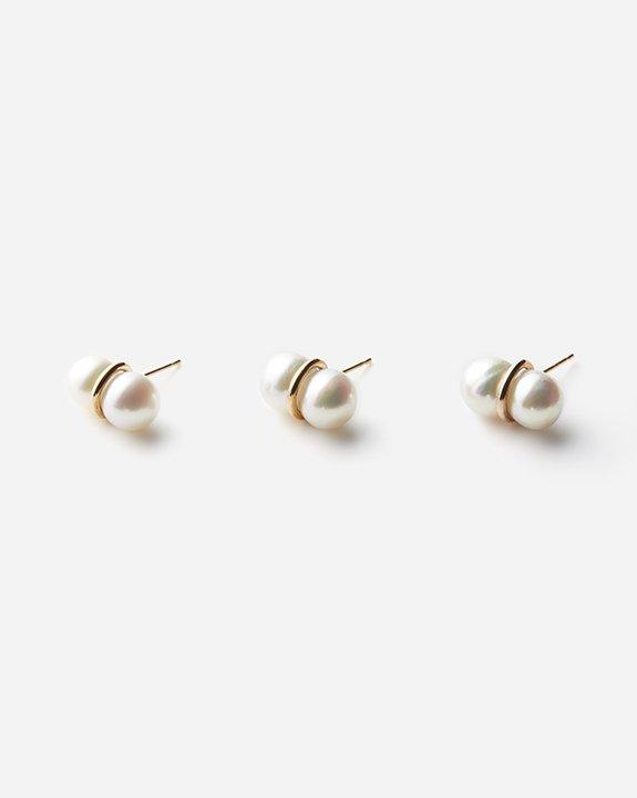 Twin Pearl Earring(single)size:L