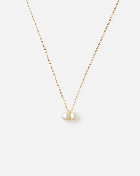 Twin Pearl Necklace size:S