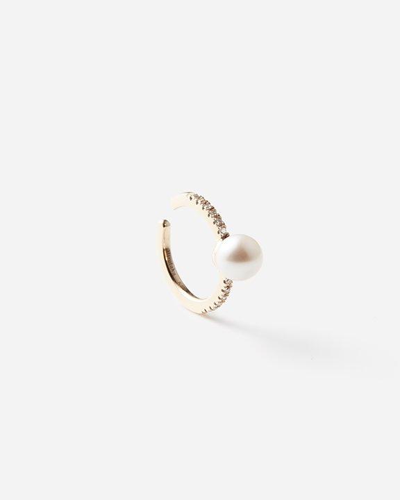Akoya Pearl Diamond Ear Cuff